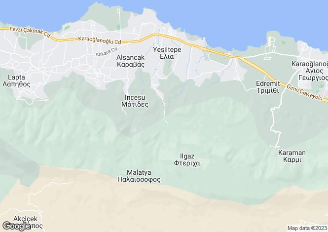 Map for Kyrenia/Girne, Ilgaz