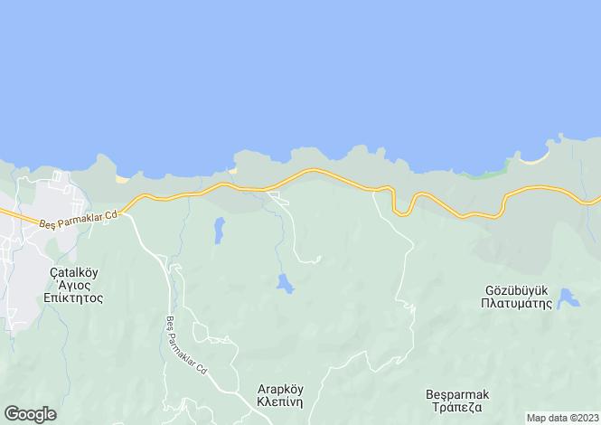 Map for Kyrenia, Catalkoy