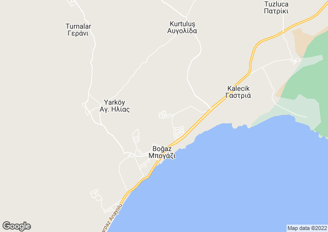 Map for Famagusta, Bogaz