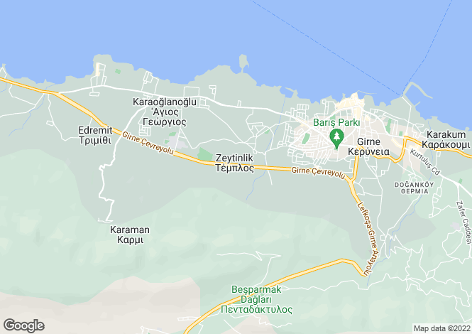 Map for Kyrenia/Girne, Zeytinlik