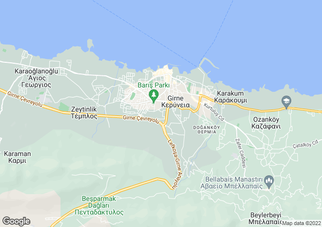 Map for Kyrenia/Girne, Kyrenia