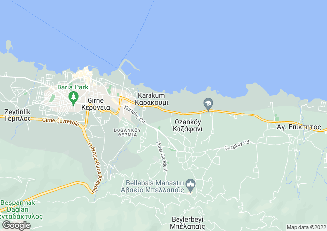 Map for Ozankoy, Girne