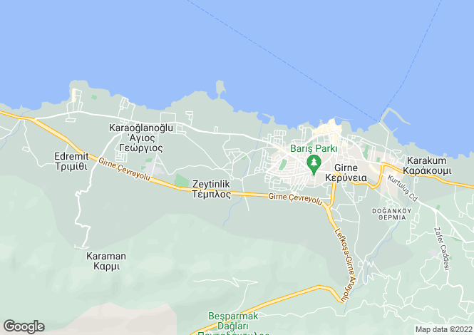 Map for Zeytinlik, Girne