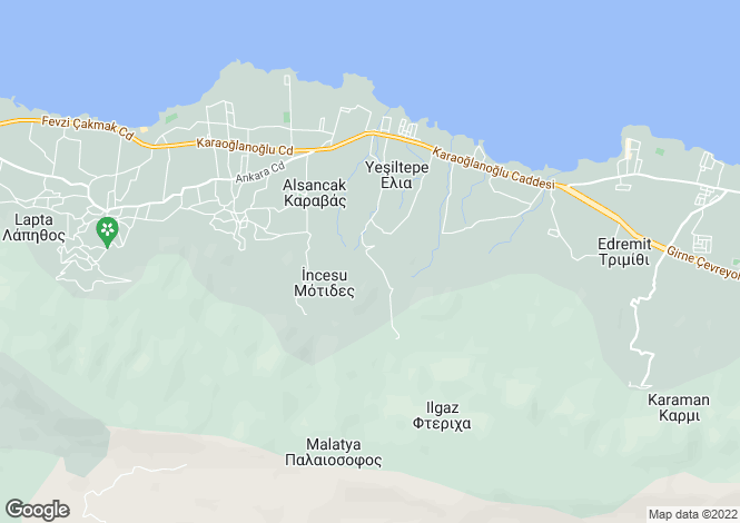 Map for Kyrenia/Girne, Yesiltepe
