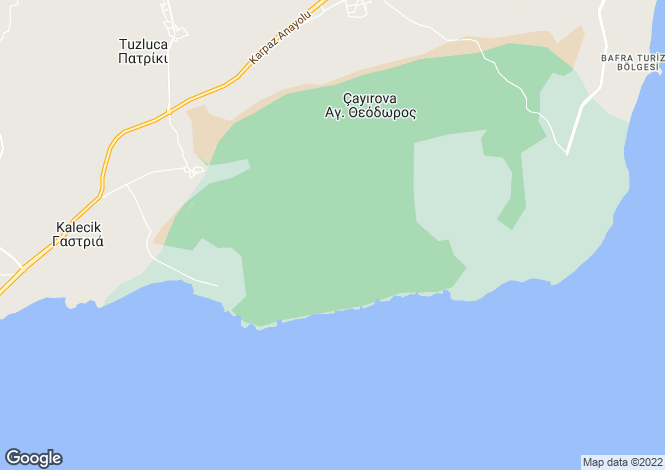 Map for Famagusta, Caynova