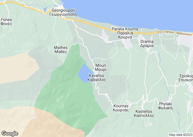 Map for Kournas, Chania, Crete