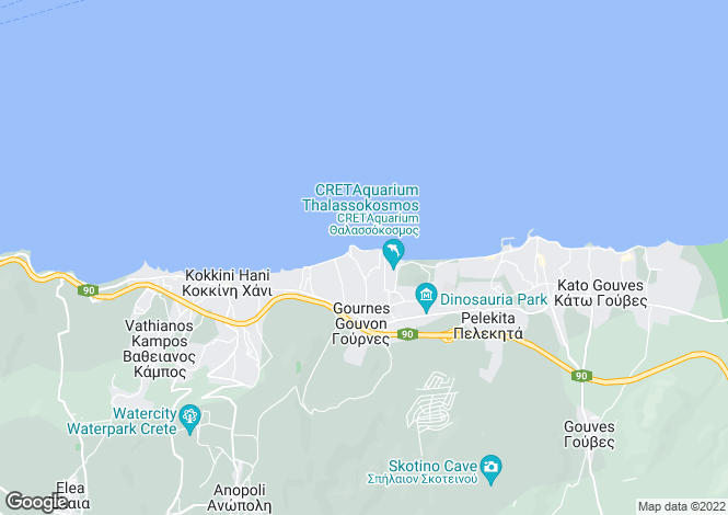 Map for Crete, Heraklion, Gouves