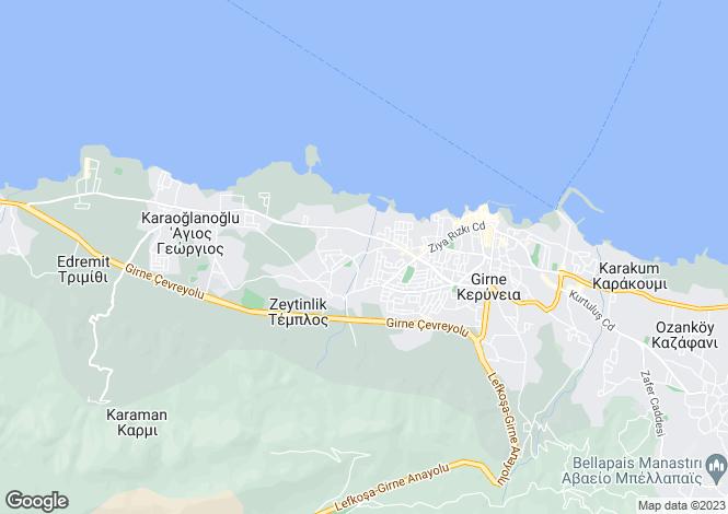 Map for Kyrenia, Zeytinlik