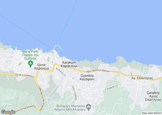 Map for Karakum, Girne