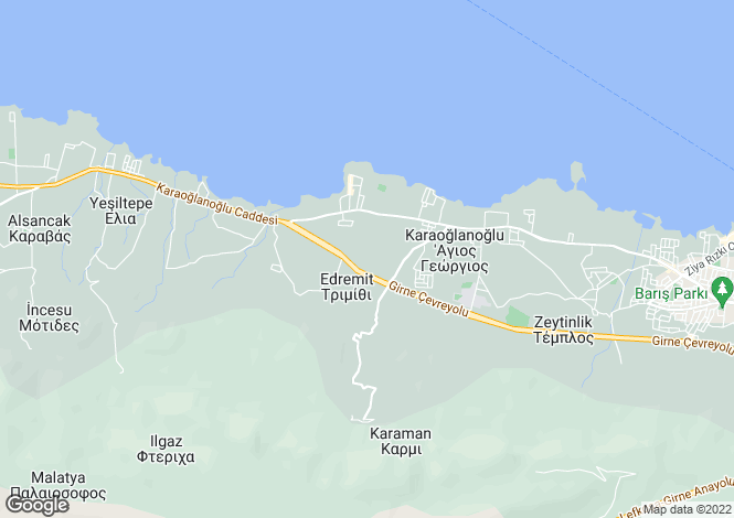 Map for Edremit, Girne