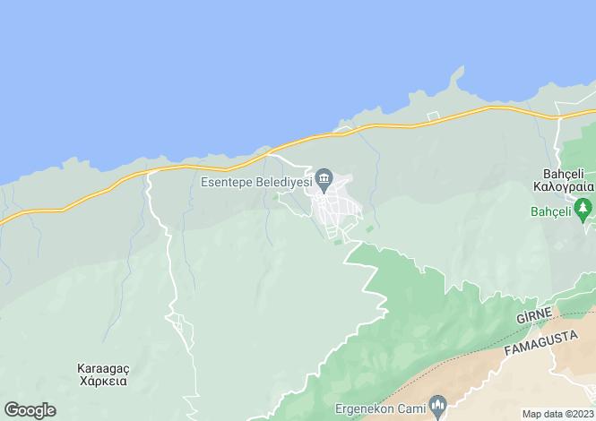Map for Kyrenia/Girne, Esentepe