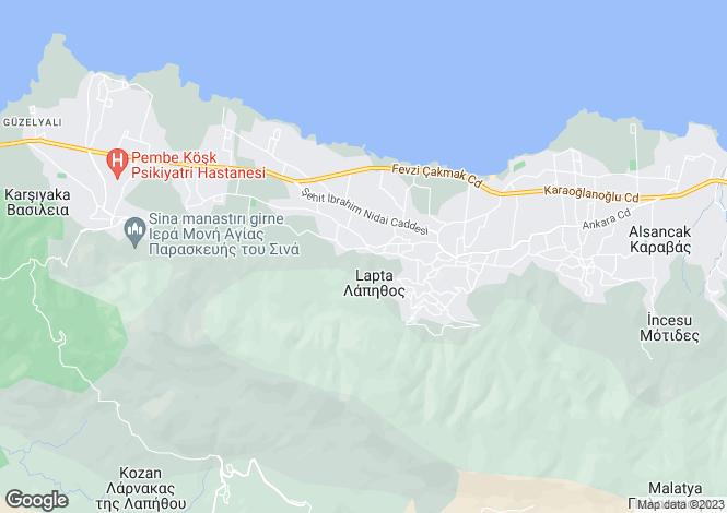 Map for Kyrenia/Girne, Lapta