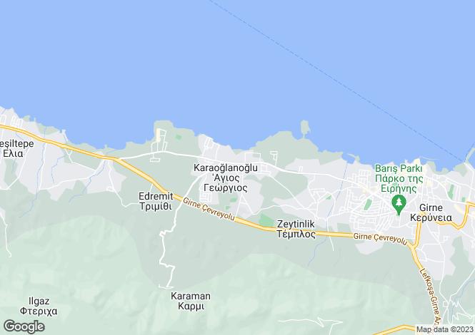 Map for Kyrenia/Girne, Karaoglanoglu