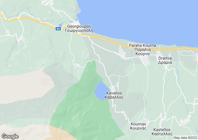 Map for Kournas, Crete, Greece