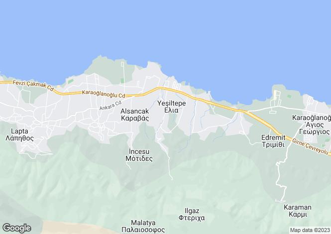 Map for Kyrenia/Girne, Yesiltepe