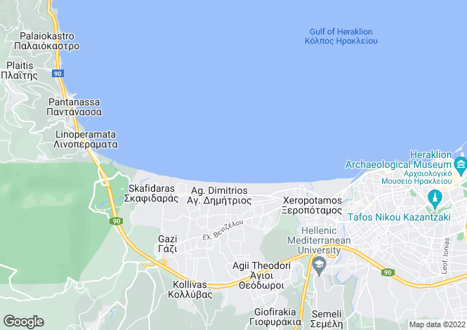 Map for Crete, Chania, Therisso