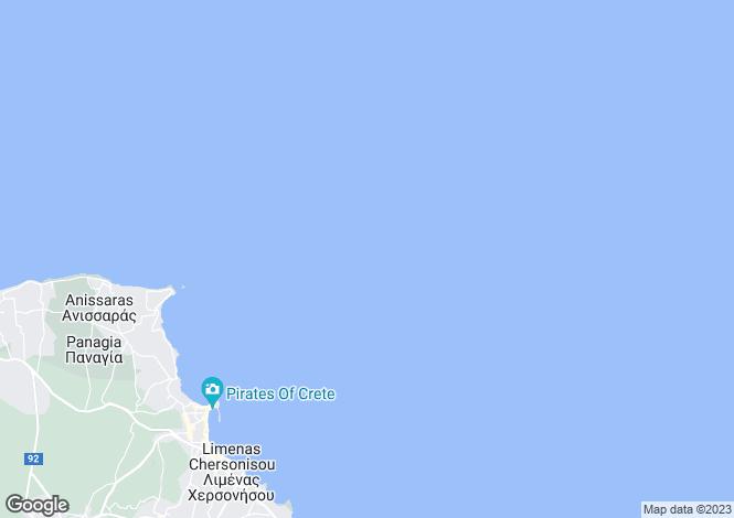 Map for Crete, Heraklion, Limin Chersonisou