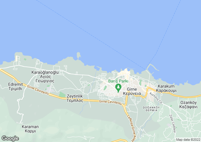 Map for Kyrenia/Girne, Karaoglanoglu