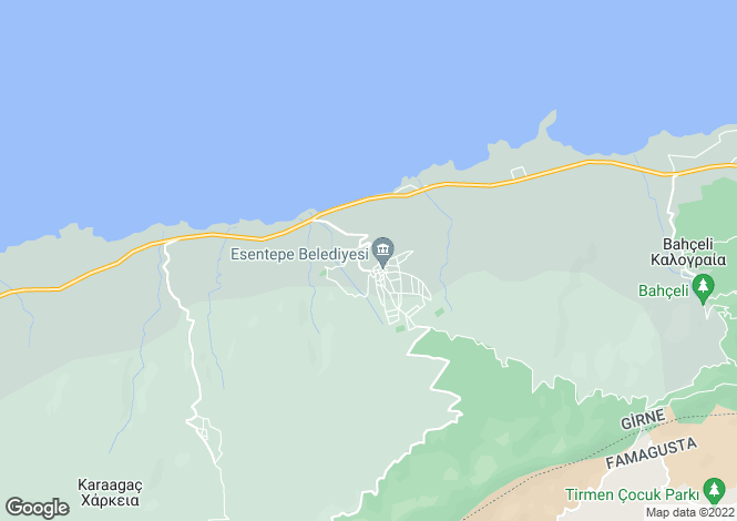 Map for Kyrenia/Girne, Esentepe