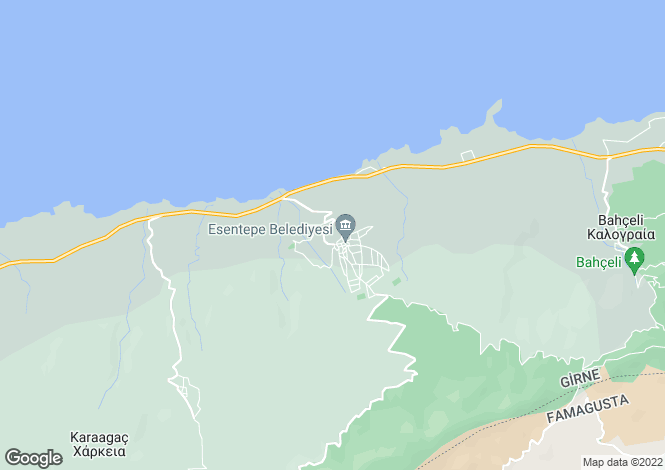 Map for Esentepe, Girne