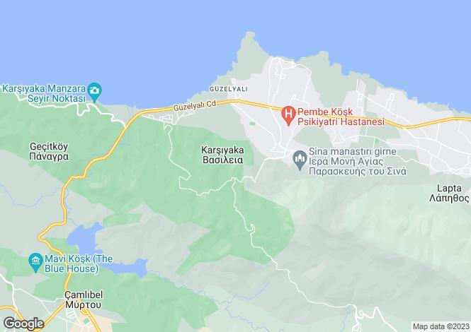 Map for Karsiyaka, Girne