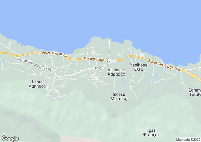 Map for Alsancak, Girne