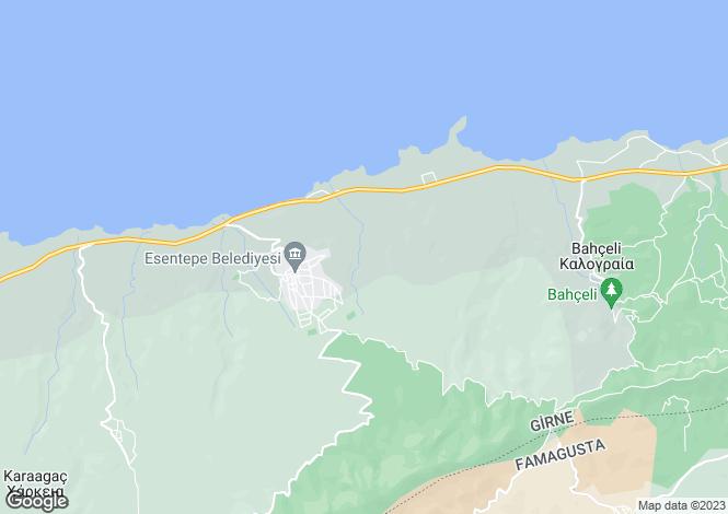 Map for Esentepe, Kyrenia