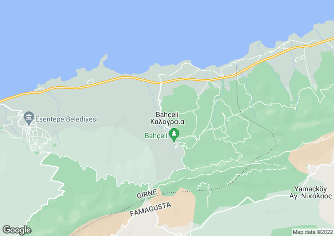 Map for Bahceli