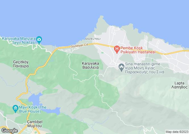 Map for Girne, Karsiyaka