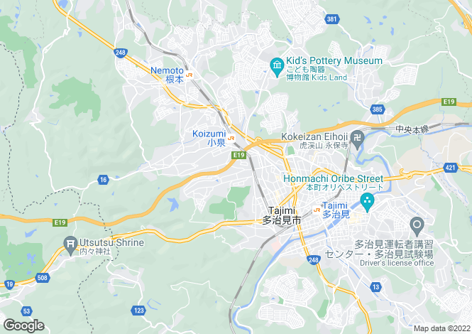 Map for Gifu