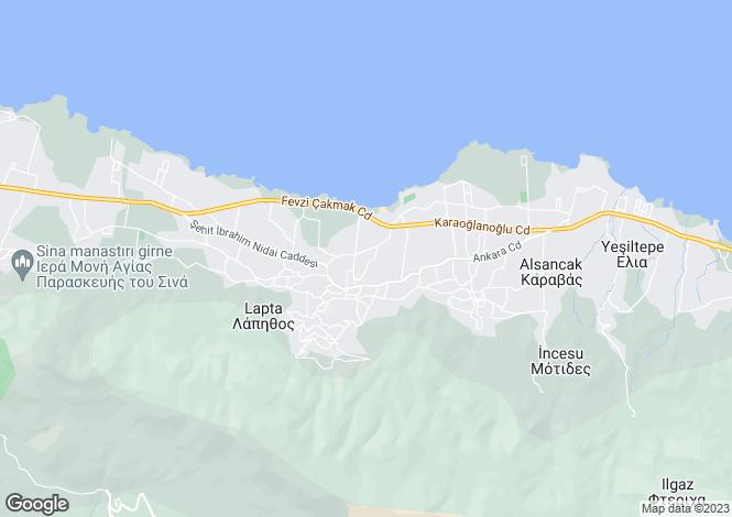 Map for Kyrenia, Lapta