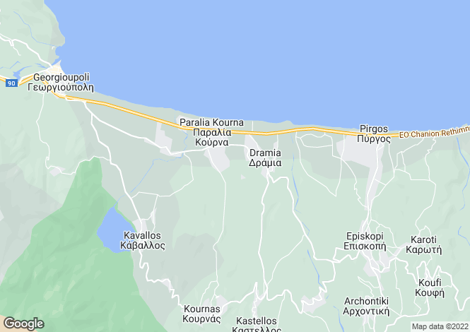 Map for Crete, Chania, Dramia