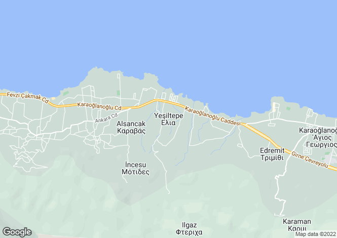Map for Yesiltepe