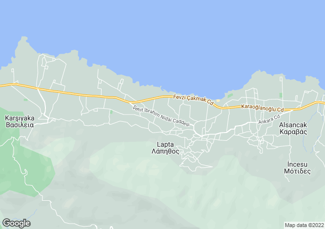 Map for Kyrenia/Girne, Lapta