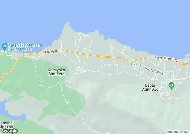Map for Karsiyaka, Girne
