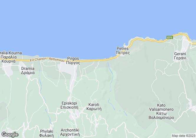 Map for Crete, Rethymnon, Episkopi