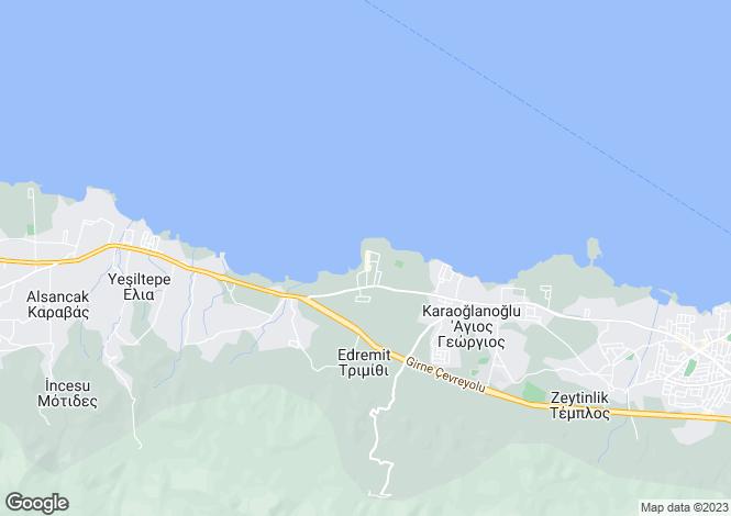 Map for Kyrenia/Girne
