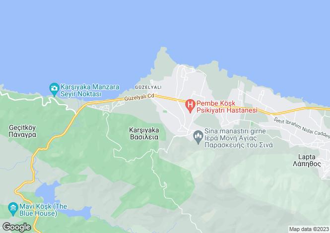 Map for Kyrenia/Girne, Karsiyaka
