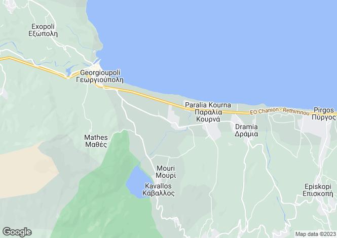 Map for Kournas, Crete, Greece
