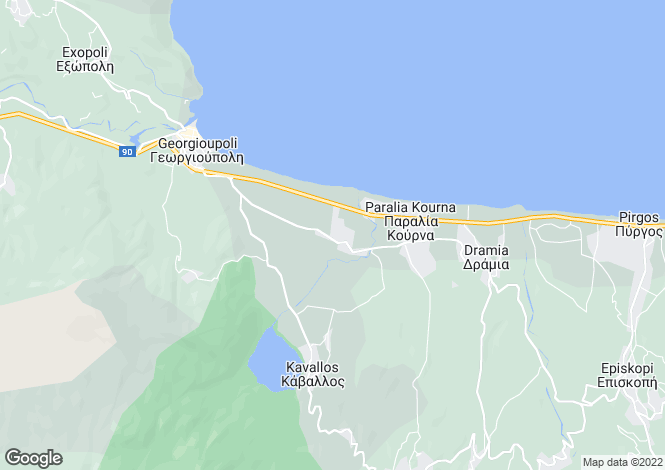 Map for Kournas, Chania, Greece