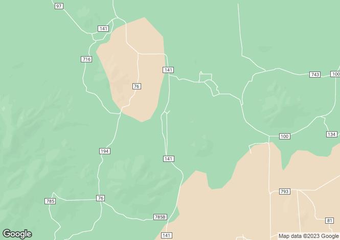 Map for Arizona, Coconino County, Parks