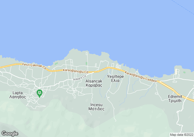 Map for Kyrenia/Girne, Alsancak