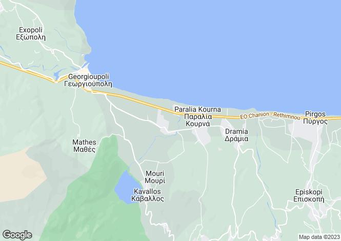 Map for Crete, Chania, Georgioupoli