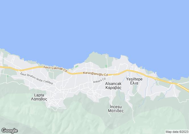 Map for Alsancak, Girne