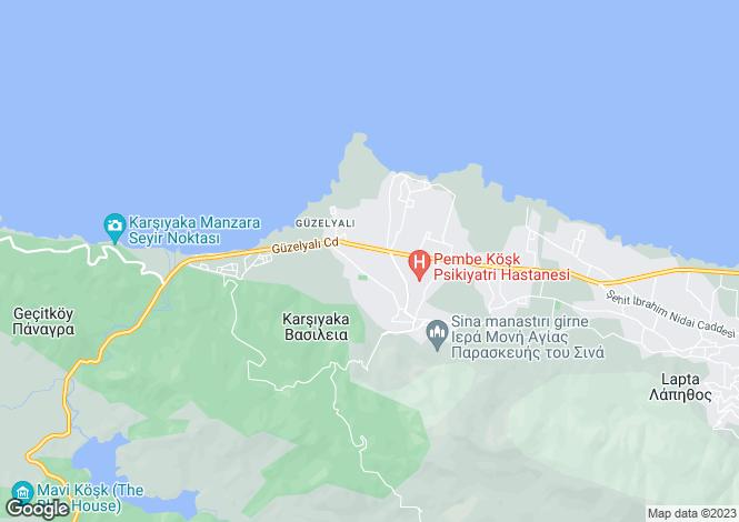 Map for Kyrenia, Karsiyaka