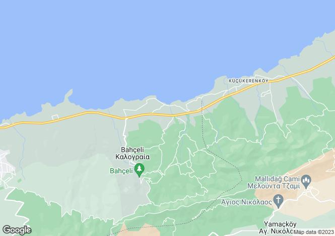 Map for Bahçeli, Girne