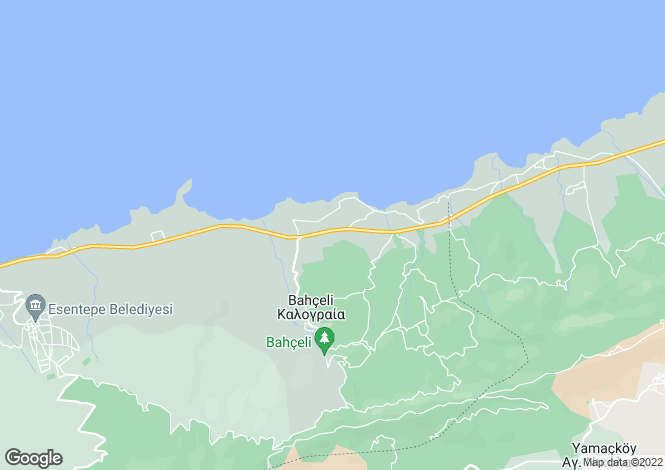 Map for Kyrenia, Bahçeli