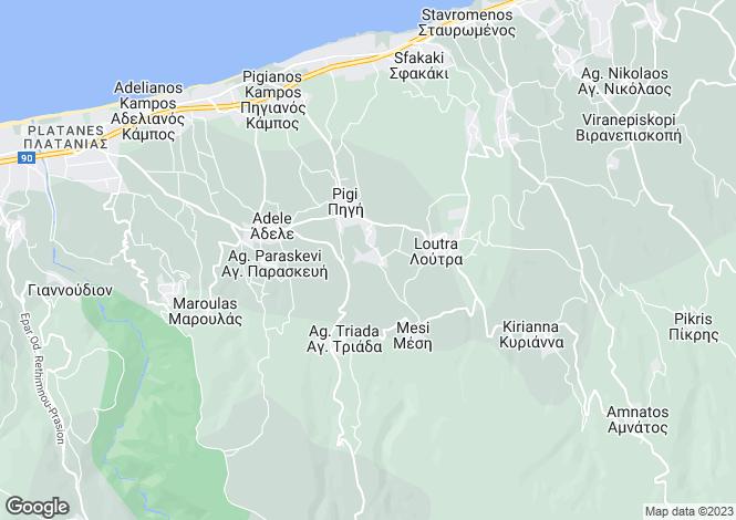 Map for Agios Dimitrios, Rethymno, Greece