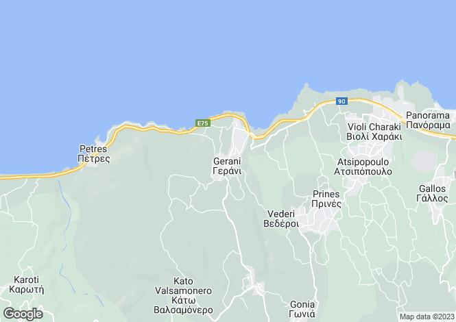 Map for Crete, Chania, Koufi