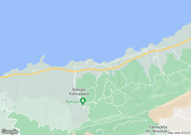 Map for Esentepe, Kyrenia, Northern Cyprus